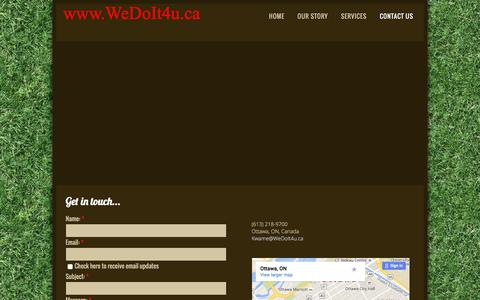 Screenshot of Contact Page wedoit4u.ca - Contact Us - captured Feb. 24, 2016