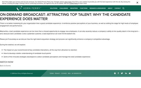On-demand Broadcast: Attracting top talent: Why the candidate experience does matter