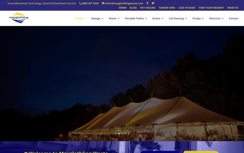 Screenshot of Home Page mayglothlingwaste.com - Waste Management Contractor Hereford and Worcester | Mayglothling - captured Oct. 17, 2017