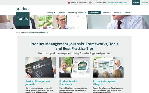 Screenshot of Signup Page productfocus.com - Free Product Management Resources | Product Focus - captured Feb. 28, 2019