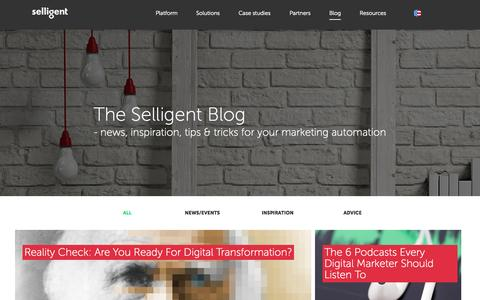 Screenshot of Blog selligent.com - Blogs | Selligent - captured Aug. 4, 2015