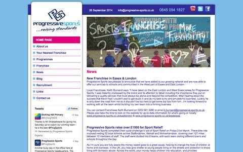 Screenshot of Press Page progressive-sports.co.uk - Progressive Sports - Supporting Physical Education for children in schools - captured Sept. 30, 2014