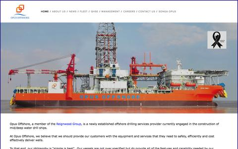 Screenshot of Home Page opusoffshore.com - Opus Offshore - captured Aug. 12, 2015