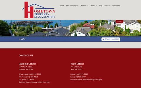 Screenshot of Blog hometownpm.com - HometownPM Property Management Blog - Hometown Property Management - captured April 13, 2017