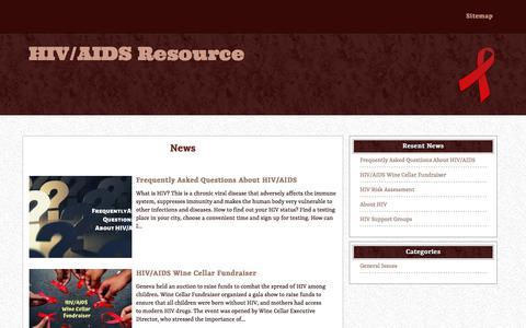 Screenshot of Home Page hivaidsresource.org - HIV/AIDS Resource - captured Jan. 18, 2020