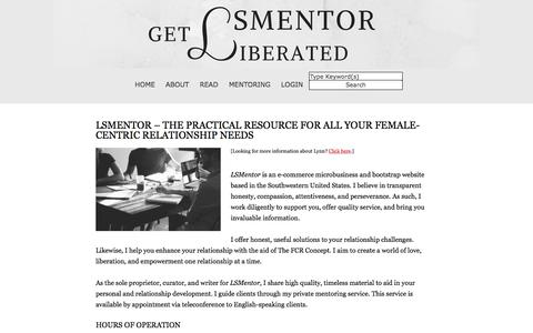 Screenshot of Hours Page lsmentor.com - LSMentor - The Practical Resource for All Your Female-Centric Relationship Needs ⋆ LSMentor - captured Feb. 1, 2018