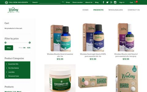 Screenshot of Products Page woolzies.com - Products Archive - WoolziesWoolzies - captured Dec. 2, 2016