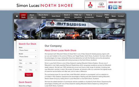 Screenshot of About Page simonlucas.co.nz - Simon Lucas North Shore - Mitsubishi Dealer | About Us - captured Oct. 26, 2014