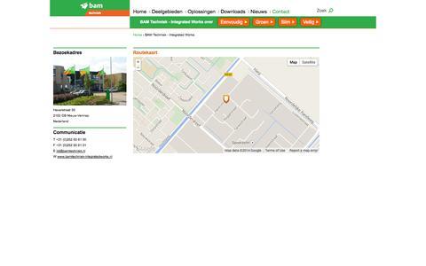 Screenshot of Contact Page bamtechniek-integratedworks.nl - BAM Techniek - Integrated Works   BAM Techniek - Integrated Works - captured Oct. 5, 2014