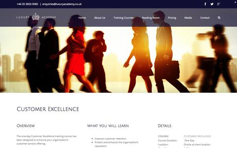 Screenshot of Support Page luxuryacademy.co.uk - Customer Excellence Training - The Luxury Academy - captured Sept. 26, 2016