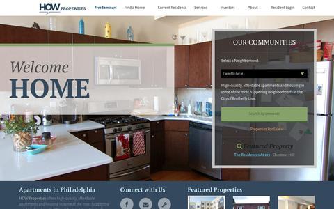 Screenshot of Home Page howproperties.com - Home   How PropertiesHow Properties - captured Dec. 6, 2015