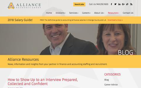 Screenshot of Press Page allianceresourcegroup.com - Blog - Alliance Resource Group - captured July 13, 2018