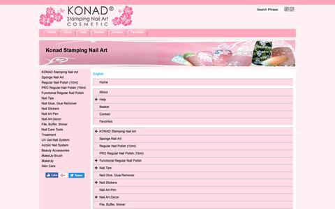 Screenshot of Site Map Page Menu Page konadnailart.com - Map - captured Nov. 8, 2018