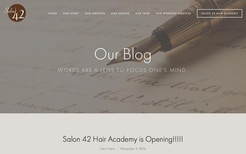Screenshot of Blog salonfortytwo.com - Our Blog — Salon 42 - captured Nov. 18, 2016