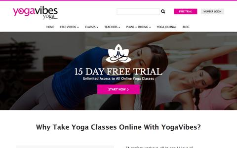 Screenshot of Trial Page yogavibes.com - Online Yoga Classes - Subscriptions - captured Sept. 19, 2014