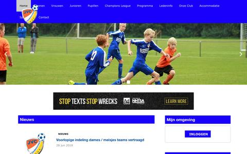 Screenshot of Home Page jvcdedemsvaart.nl - Home | JVC Dedemsvaart - captured July 26, 2018