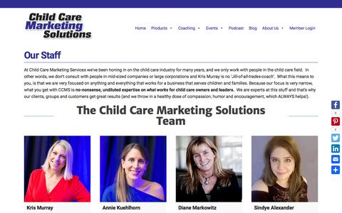 Screenshot of Team Page childcare-marketing.com - Our Staff - Child Care Marketing Solutions - captured March 16, 2018