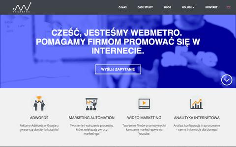 Screenshot of Home Page webmetro.pl - Webmetro - Webmetro Agencja Interaktywna - captured Sept. 2, 2015