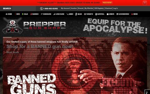 Screenshot of Home Page preppergunshop.com - Prepper Guns Home Prepper Gun Shop - captured Sept. 19, 2014