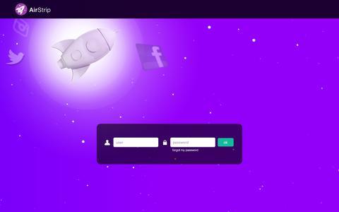 Screenshot of Login Page airstrip.com.br - AirStrip Social Analytics - O mais completo sistema de monitoramento e análise de mídias sociais e notícias. - captured Nov. 6, 2019