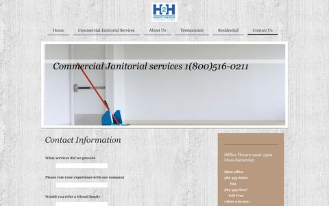 Screenshot of Contact Page h2h-facility-services.org - Contact H2H Facility Services - captured Sept. 26, 2014