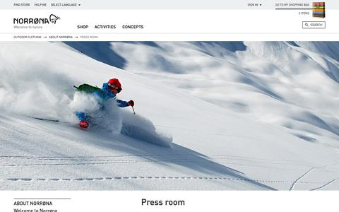 Screenshot of Press Page norrona.com - Press room   Norrøna - captured Sept. 24, 2014