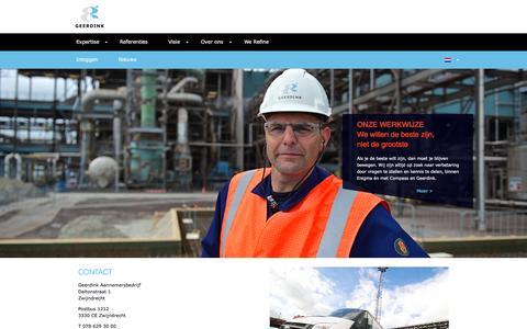 Screenshot of Contact Page geerdink.eu - Contact - Geerdink Aannemersbedrijf - captured Jan. 26, 2016
