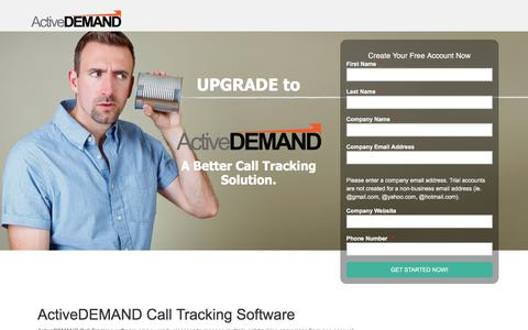 Screenshot of Landing Page activedemand.com - Get More From Your Call Tracking - captured May 11, 2018