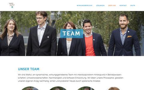 Screenshot of Team Page weact.ch - Team — WeAct - captured Sept. 21, 2018