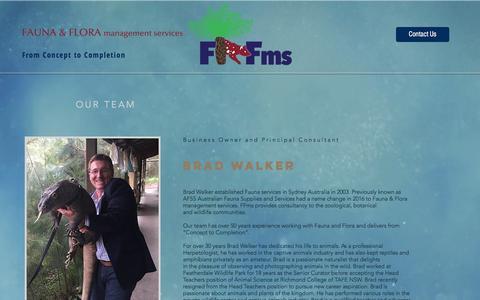 Screenshot of About Page ffms.com.au - ffms   OUR TEAM - captured Nov. 25, 2016