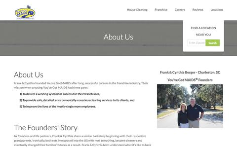 Screenshot of About Page youvegotmaids.com - All About You've Got Maids | About Us - captured Oct. 19, 2018