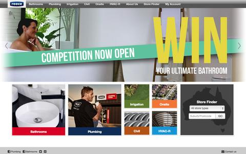 Screenshot of Home Page reece.com.au - Reece Plumbing & Bathrooms | Australia's Leading Supplier. - captured Sept. 19, 2014