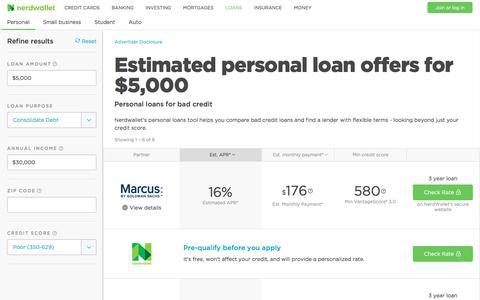 Bad Credit Loans | Compare Rates & Pre-Qualify | Nerdwallet