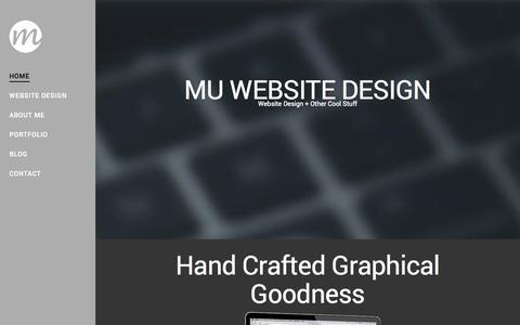 Screenshot of Home Page maxunderhay.co.uk - Max Underhay | Website Design - captured Oct. 3, 2014