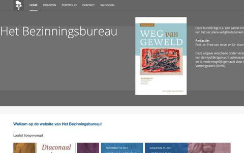 Screenshot of Home Page bezinningsbureau.nl - Home - captured Sept. 28, 2018