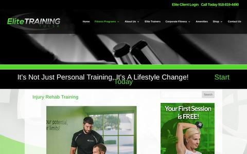 Elite Training Tulsa | Injury Rehab Training | Elite Training