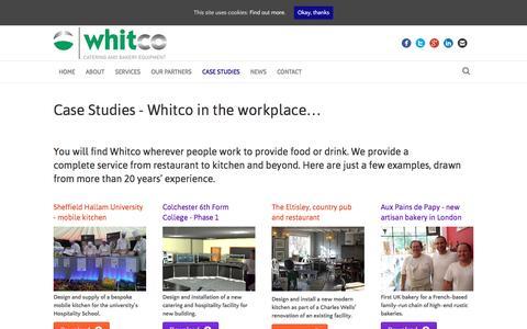 Screenshot of Case Studies Page whitcoltd.com - CASE STUDIES - Whitco - captured Nov. 29, 2016