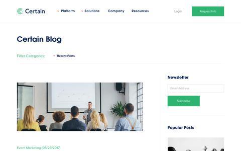 Blog   Certain, Inc. - Event Automation Software