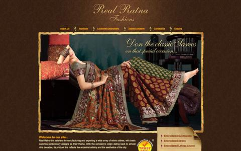 Screenshot of Home Page realratnafashion.com - Indian Ethnic Wear - Indian Ethnic Wear For Women, Indian Bridal Wear and Indian Bridal Wear Designers - captured Oct. 6, 2014