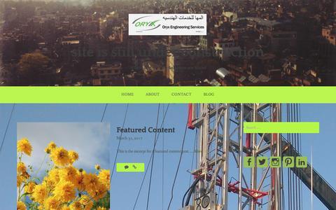 Screenshot of Blog oryxeng.com - Blog – site is still under construction - captured Nov. 4, 2017