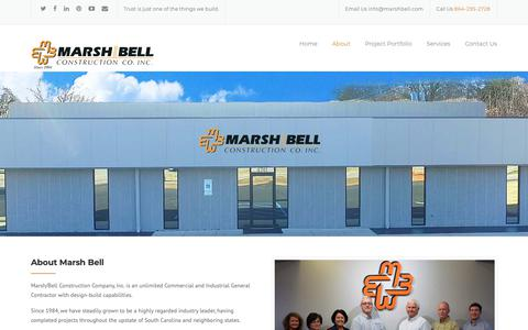 Screenshot of About Page marshbell.com - Who We Are - Marsh Bell Construction - captured Oct. 17, 2018