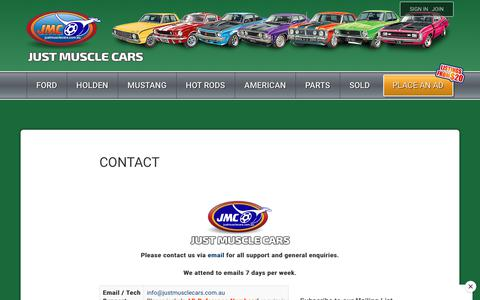 Screenshot of Contact Page justmusclecars.com.au - Contact - Just Muscle Cars - captured Sept. 23, 2018