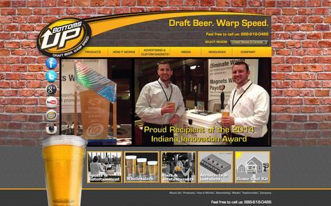 Screenshot of Home Page bottomsupbeer.com - Bottoms Up Beer -Home - captured Sept. 19, 2014