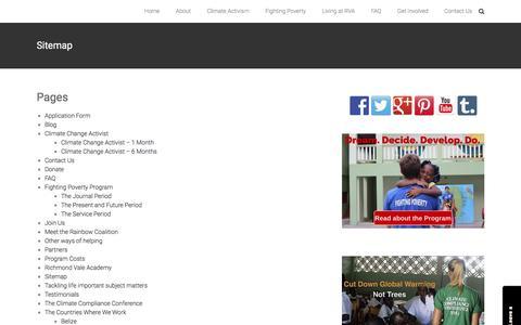 Screenshot of Site Map Page richmondvale.org - Sitemap - Richmond Vale Academy - captured Feb. 17, 2016