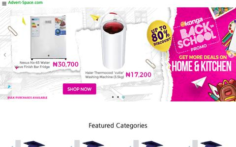 Screenshot of Home Page About Page Privacy Page Jobs Page Terms Page Pricing Page advert-space.com - Get Best Prices for Phones, Tablets, Computers, Electronics, Fashion, Generators in Nigerian - Best Prices on Advert Space - captured Sept. 23, 2018