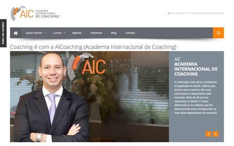 Screenshot of Home Page aicoaching.com.br - Home | Academia Internacional de Coaching - captured Oct. 4, 2014
