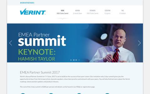 EMEA Partner Summit 2017 | Verint Systems