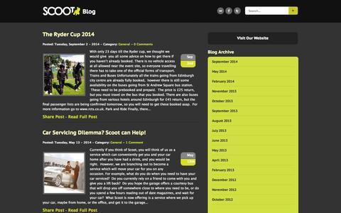 Screenshot of Blog scootltd.co.uk - Scoot Ltd - Blog | You Drink We Drive - captured Sept. 30, 2014