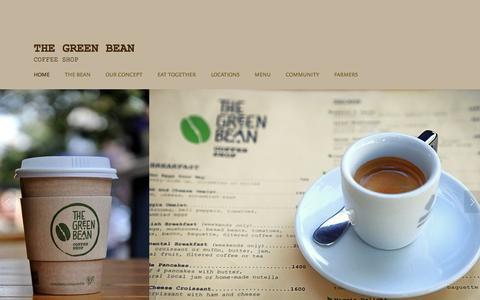 Screenshot of Home Page thegreenbean.am - The Green Bean - captured Feb. 25, 2016