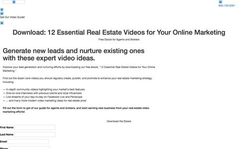 Screenshot of Landing Page placester.com - Placester Ebook: 12 Essential Real Estate Videos for Your Marketing - captured Dec. 31, 2016